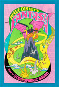 "Movie Posters:Animation, Fantasia (Buena Vista, R-1970). Rolled, Very Fine. Heavy Stock One Sheet (28"" X 41""). Animation.. ..."