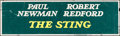 """Movie Posters:Crime, The Sting (Universal, 1973). Rolled, Fine-. Silk Screen Banner (82"""" X 24""""). Crime.. ..."""