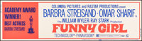 """Funny Girl (Columbia, 1968). Rolled, Very Fine-. Silk Screen Banner (82"""" X 24""""). Academy Award Style. Musical..."""
