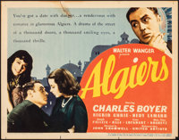 "Algiers (United Artists, 1938). Fine/Very Fine. Title Lobby Card (11"" X 14""). Adventure"
