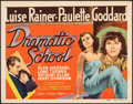 "Movie Posters:Romance, Dramatic School (MGM, 1938). Very Fine-. Title Lobby Card (11"" X 14""). Romance.. ..."