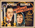 "Movie Posters:Romance, The Emperor's Candlesticks (MGM, 1937). Fine+. Title Lobby Card (11"" X 14""). Romance.. ..."
