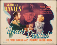 "Hearts Divided (Warner Bros., 1936). Fine/Very Fine. Title Lobby Card (11"" X 14""). Romance"