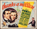 """Movie Posters:Comedy, Thanks a Million (20th Century Fox, 1935). Fine. Title Lobby Card (11"""" X 14""""). Comedy.. ..."""