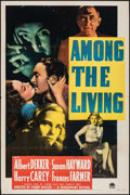 "Movie Posters:Film Noir, Among the Living & Other Lot (Paramount, 1941). Folded, Overall: Very Fine-. One Sheet (27"" X 41"") & Australian Daybill (13.... (Total: 2 Items)"