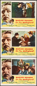 "Movie Posters:Academy Award Winners, On the Waterfront (Columbia, 1954). Fine+. Lobby Cards (3) (11"" X 14""). Academy Award Winners.. ... (Total: 3 Items)"