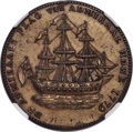 1778-79 MEDAL Rhode Island Ship Medal, VLUGTENDE Removed, Brass -- Obverse Scratched -- NGC Details. Unc. Betts-562, Bre...