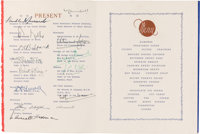 The Atlantic Charter: A Historic Ship's Menu Signed by FDR, Churchill and Other Prominent Attendees