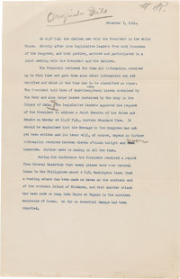 Pearl Harbor: A Historic Original Record of the Behind-the-Scenes Developments at the White House Prior to FDR's Famous...