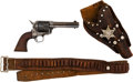Handguns:Single Action Revolver, Composite Colt Single Action Army Revolver with Leather Holster.. ...