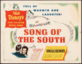"""Movie Posters:Animation, Song of the South (RKO, 1946). Folded, Fine+. Half Sheet (22"""" X 28"""") Style B. Animation.. ..."""