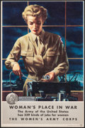 """Movie Posters:War, World War II Propaganda (U.S. Government Printing Office, 1944). Very Fine+. Recruiting Posters (2) (8.25"""" X 12.5"""") """"A Woman... (Total: 2 Items)"""