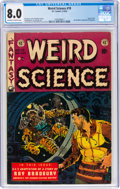 Golden Age (1938-1955):Science Fiction, Weird Science #19 (EC, 1953) CGC VF 8.0 Off-white to white pages....