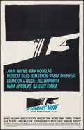 "Movie Posters:War, In Harm's Way (Paramount, 1965). Fine+. One Sheet (26.75"" X 41.5""). Saul Bass Artwork. War.. ..."