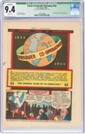 Golden Age (1938-1955):Miscellaneous, Comic Cavalcade Giveaway #nn One Hundred Years of Co-Operation (DC, 1944) CGC Qualified NM 9.4 White pages....