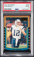 Football Cards:Singles (1970-Now), 2000 Bowman Tom Brady #236 PSA Mint 9....