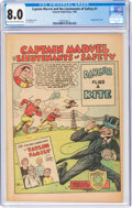 Golden Age (1938-1955):Miscellaneous, Captain Marvel and the Lieutenants of Safety #1 (Fawcett Publications, 1950) CGC VF 8.0 Light tan to off-white pages....