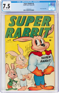 Super Rabbit #6 (Timely, 1945) CGC VF- 7.5 Cream to off-white pages