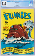 The Funnies #43 (Dell, 1940) CGC VF- 7.5 Cream to off-white pages