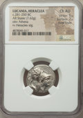 Ancients: LUCANIA. Heraclea. Ca. 281-250 BC. AR stater (21mm, 7.62 gm, 8h). NGC Choice AU 5/5 - 2/5, Fine Style