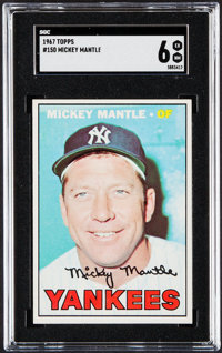 1967 Topps Mickey Mantle #150 SGC EX/NM 6