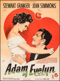 "Movie Posters:Comedy, Adam and Evalyn (Rank, 1949). Fine/Very Fine on Linen. Full-Bleed Danish Poster (24.5"" X 33.25"") Kurt Wenzel Artwork. Comedy..."
