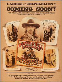 Buffalo Bill and the Indians, or Sitting Bull's History Lesson (United Artists, 1976). Very Fine on Linen. Poster (30&qu...