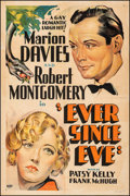 """Movie Posters:Comedy, Ever Since Eve (Warner Bros., 1937). Fine on Linen. Other Company One Sheet (27"""" X 41""""). Comedy.. ..."""