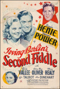 "Movie Posters:Musical, Second Fiddle (20th Century Fox, 1939). Fine- on Linen. One Sheet (27"" X 40.5"") Style A. Musical.. ..."