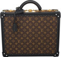 """Luxury Accessories:Bags, Louis Vuitton Monogram Reverse Coated Canvas Hard-Sided Briefcase Trunk. Condition: 2. 16"""" Width x 12"""" Height x 6"""" Dep..."""