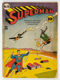 Superman #10 (DC, 1941) Condition: Incomplete