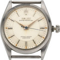 "Timepieces:Wristwatch, Rolex, Steel Oyster Perpetual, ""Pie Pan Dial"", Ref. 6564, circa 1956, For Restoration. ..."