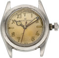 Timepieces:Wristwatch, Rolex, Steel Boy's Size Oyster, Ref. 4220, circa 1942, For Parts Or Repair. ...