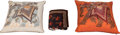 """Luxury Accessories:Home, Hermès Set of Three: """"Beloved India"""" Velvet Blanket & Two Pillows. Condition: 2. See Extended Condition Report for Siz... (Total: 3 )"""