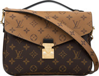 Louis Vuitton Reverse Monogram Coated Canvas Pochette Metis Bag with Gold Hardware Condition: 1 1