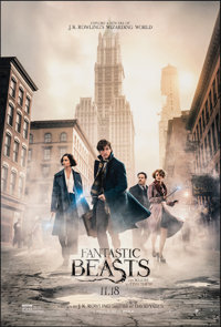"""Fantastic Beasts and Where to Find Them (Warner Bros., 2016). Rolled, Near Mint. One Sheet (27"""" X 40"""") DS Adva..."""