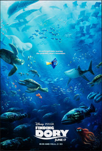 """Finding Dory & Other Lot (Walt Disney Studios, 2016). Rolled, Overall: Very Fine. One Sheets (3) (27"""" X 40&..."""