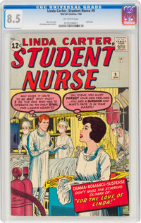 Linda Carter, Student Nurse #9 (Marvel, 1963) CGC VF+ 8.5 Off-white pages