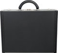 """Luxury Accessories:Bags, Louis Vuitton Black Taiga Leather President Briefcase. Condition: 1. 18"""" Width x 14"""" Height x 4.5"""" Depth. ..."""