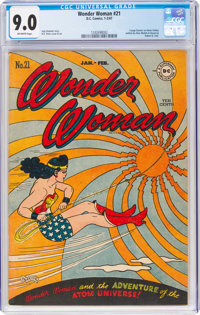 Wonder Woman #21 (DC, 1947) CGC VF/NM 9.0 Off-white pages