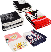 Chanel Set of 10: Assorted Towels Condition: 2 See Extended Condition Report for Sizes