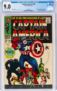 Captain America #100 (Marvel, 1968) CGC VF/NM 9.0 Cream to off-white pages