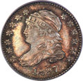 Bust Dimes, 1827 10C Pointed Top 1, JR-3, R.1, MS64 PCGS....
