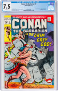 Bronze Age (1970-1979):Adventure, Conan the Barbarian #3 (Marvel, 1971) CGC VF- 7.5 White pages....