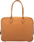 """Luxury Accessories:Bags, Hermès 32cm Natural Courchevel Leather Plume Bag with Palladium Hardware. J Square, 2006. Condition: 3. 13"""" Width ..."""