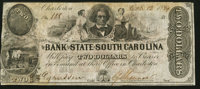 Charleston, SC- Bank of the State of South Carolina $2 Oct. 12, 1854 Fine