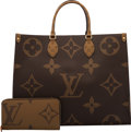 Luxury Accessories:Bags, Louis Vuitton Set of Two: Limited Edition Giant Monogram Reverse Coated Canvas Onthego Bag & Zippy Wallet. Condition: 1... (Total: 2 )