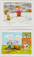 Animation Art:Production Drawing, Peanuts Lucy Must Be Traded, Charlie Brown Storyboard Art by Dean Spille Group of 2 (Bill Melendez, 2006).... (Total: 2 Original Art)