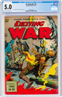 Exciting War #6 (Standard, 1952) CGC VG/FN 5.0 Off-white to white pages
