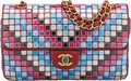 "Luxury Accessories:Bags, Chanel Limited Edition Red Multicolor Mosaic Medium Flap Bag. Condition: 3. 10"" Width x 6"" Height x 3"" Depth. ..."